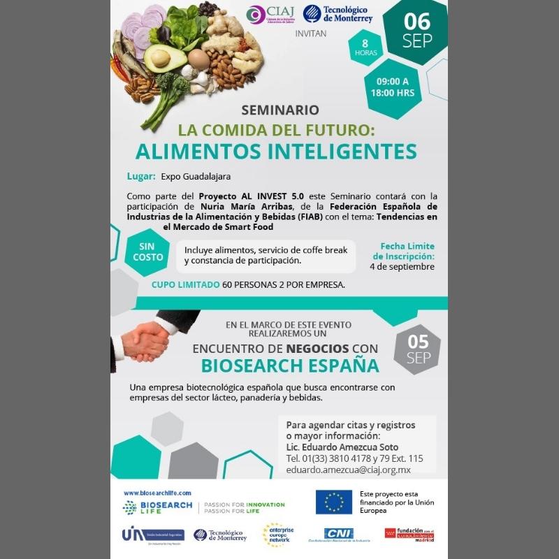 """""""La comida del futuro: Alimentos Inteligentes"""". Proyecto AL INVEST 5.0"""